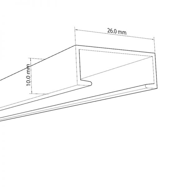 پروفیل زیرسازی نصب چراغ روکار