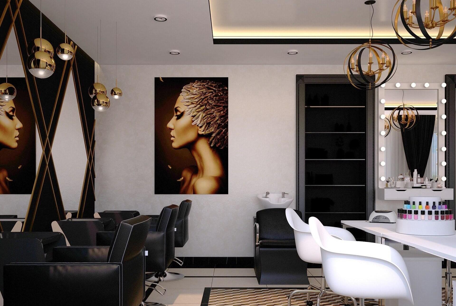بهترین نورپردازی داخلی برای سالنهای زیبایی
